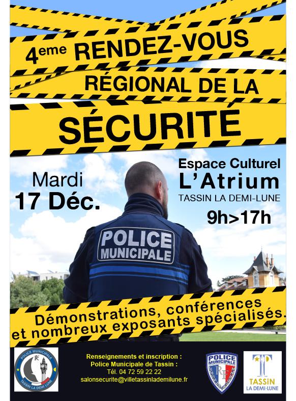 4ème Rendez-vous Régional de la Sécurité, le mardi 17 décembre 2019 à Tassin La Demi-Lune