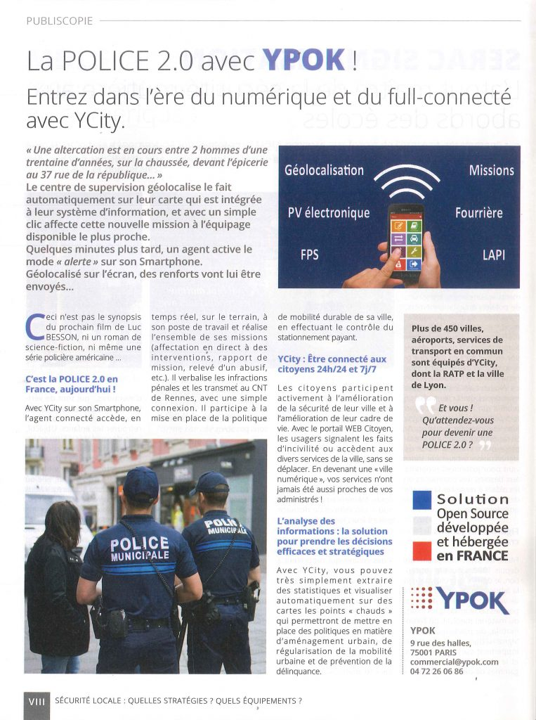Article YCity - La Gazette octobre 2019 n°40