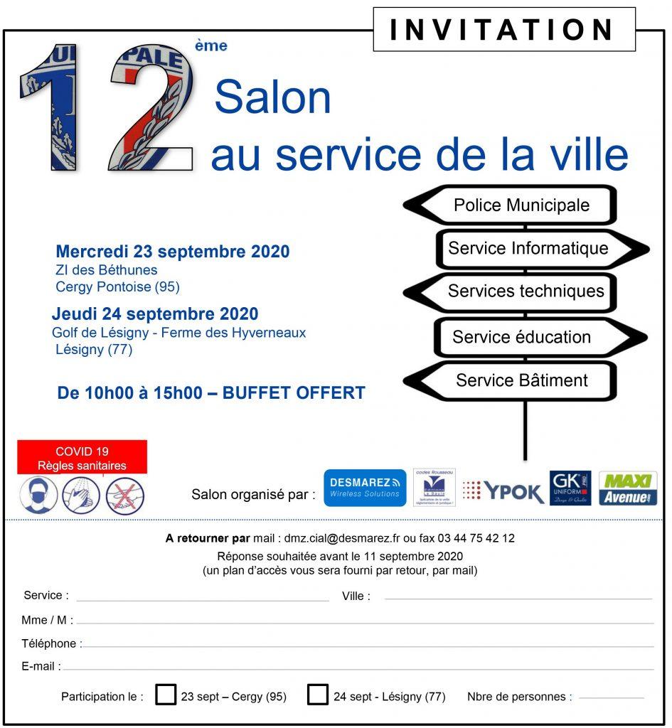 Invitation au 12ème salon PM au service de la ville